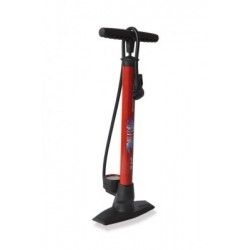 XLC Floorpump 'Delta' PU-S04 11 bar, mit Dualkopf, red