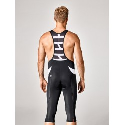CUBE BLACKLINE Bib Tights 3/4 black´n´white´n´grey