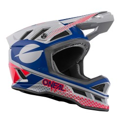 O'Neal Blade Polyacrylite Helm Ace gray/blue/red