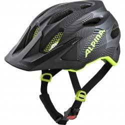 Alpina CARAPAX JUNIOR Fahrradhelm, black-neon-yellow