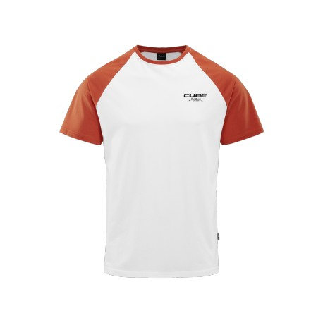 CUBE Organic T-Shirt GTY FIT Trail Hunter white´n´red