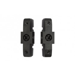 Cube replacement pads for hydraulic brake shoes