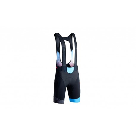 CUBE BLACK ZERO Trägerhose kurz black´n´blue´n´flashred