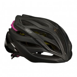 Bontrager Circuit MIPS Women's Road Helm Black/Vice Pink